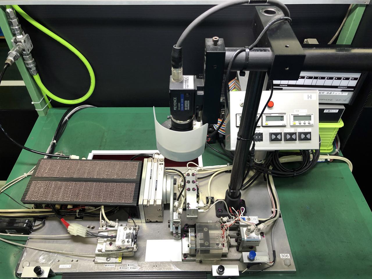 画像センサー付きハーネス試験機(自社設計製作品)